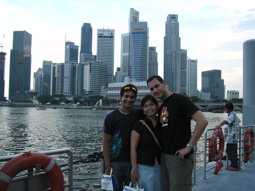 Me, Naimul & Pinny in Singapore