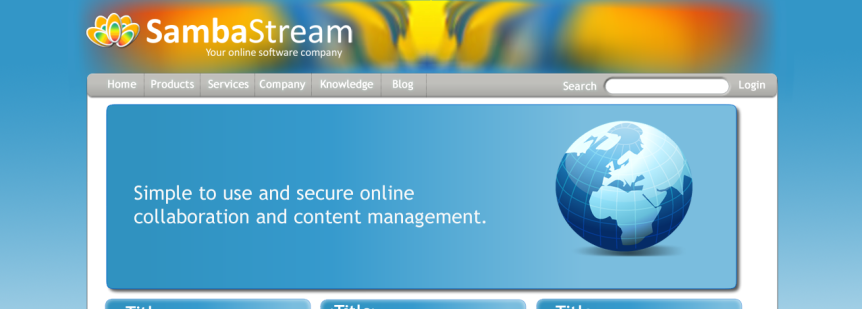 SambaStream Website Design
